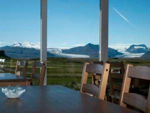 Guesthouse en Islande avec vue sur la montagne