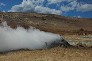 Fumerole en Islande