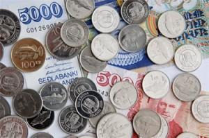 Pieces et billets couronne islandaise